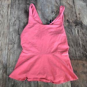 Peplum pink top